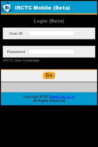 IRCTC Train Reservation - screenshot