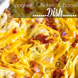 Spaghetti, Chicken & Bacon Dish.