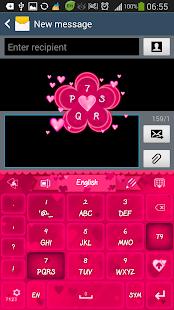 免費下載個人化APP GO Keyboard Pink Hearts Theme app開箱文 APP開箱王