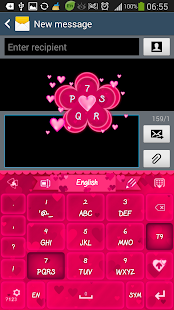 玩個人化App|GO Keyboard Pink Hearts Theme免費|APP試玩