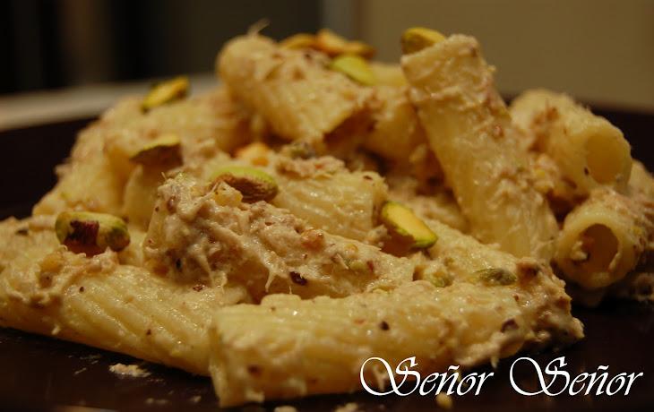 Pasta with Tuna and Pistachio Sauce Recipe