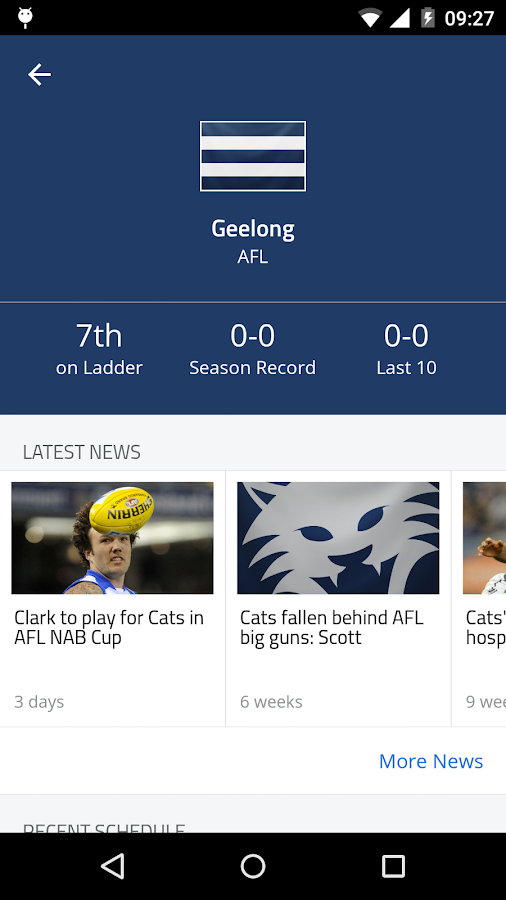 Footy Live - screenshot