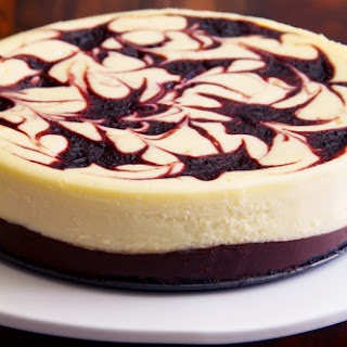 Black Bottom Cheesecake with Chocolate and Cherry