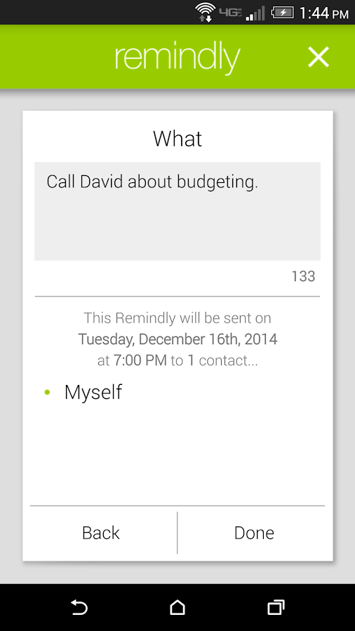Remindly - Delayed SMS Sender- screenshot