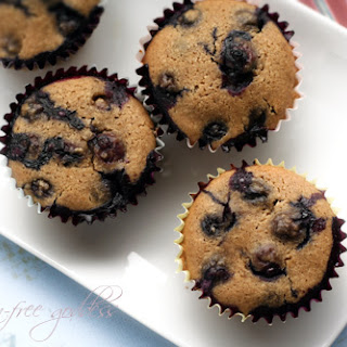 Gluten-Free Blueberry Muffin Recipe with Almond Flour.