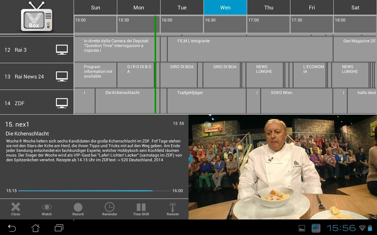 VBox LiveTV for Set-Top-Box- screenshot