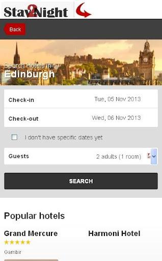 Edinburgh Hotel finder