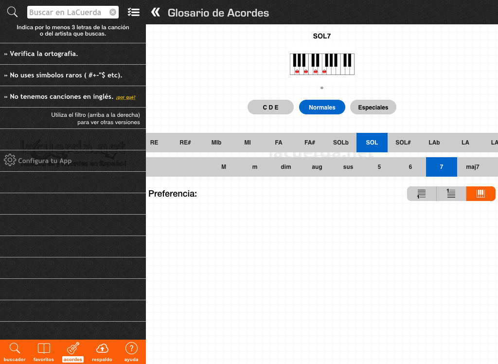 Latin Chords (LaCuerda PRO) - screenshot