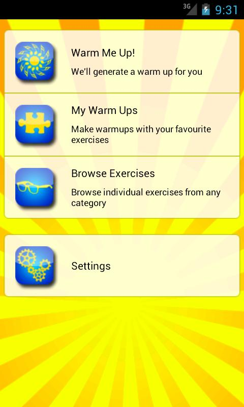 Warm Me Up for singers- screenshot