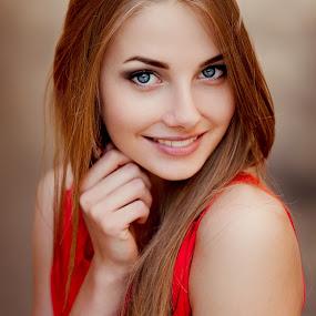 Nadya by Ann Nevreva - People Portraits of Women ( girl, blue eyes, beauty, nikon, smile, portrait )