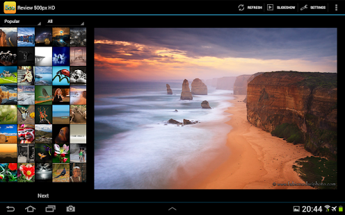 Review 500px HD - screenshot thumbnail