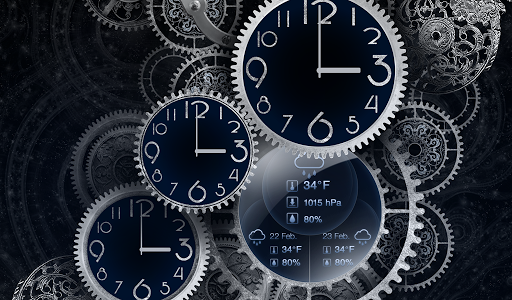 FREE Black Clock LiveWallpaper  screenshots 6