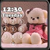 Teddy Bear Pin Screen Lock