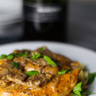 Chicken with Mustard Marscapone Marsala Sauce.
