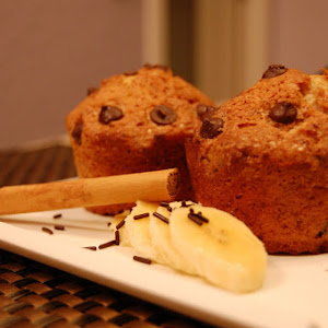 Plantain, Chocolate, and Cinnamon Muffins