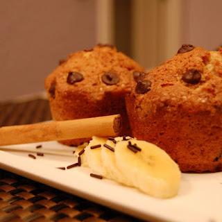 Plantain, Chocolate, and Cinnamon Muffins.