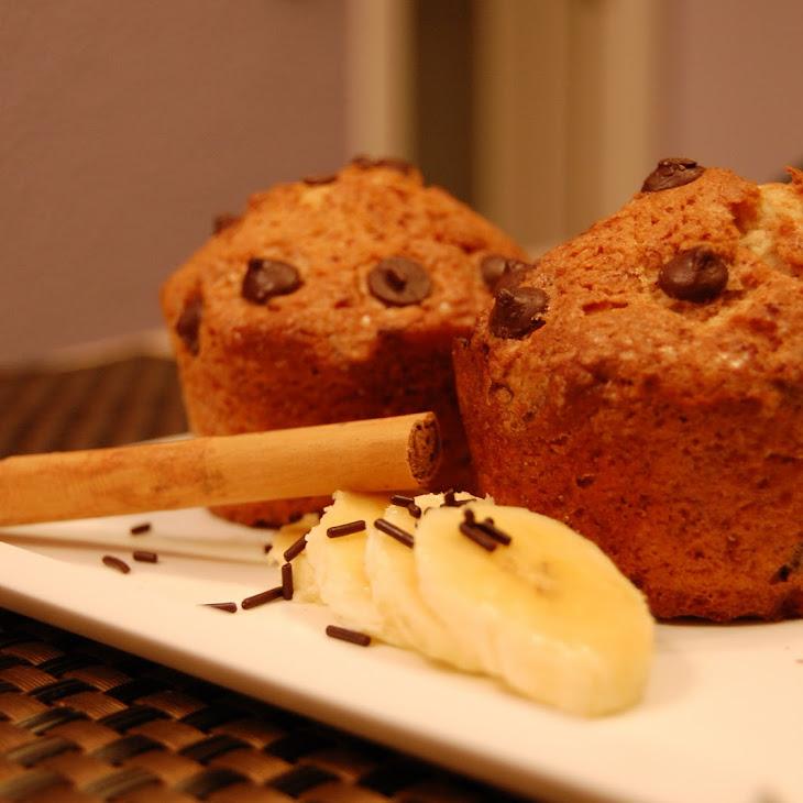 Plantain, Chocolate, and Cinnamon Muffins Recipe
