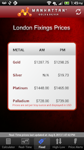 Precious Metal Prices - screenshot thumbnail