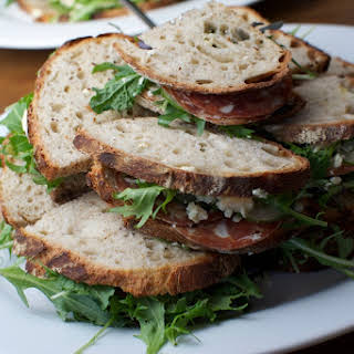 Salami and Blue Cheese Sandwich.