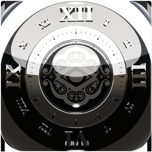Black Deluxe Clock Widget