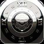 Black Deluxe Clock Widget v2.40