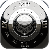 black luxus clock widget