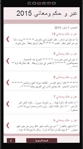 عبر وحكم عربية 2015