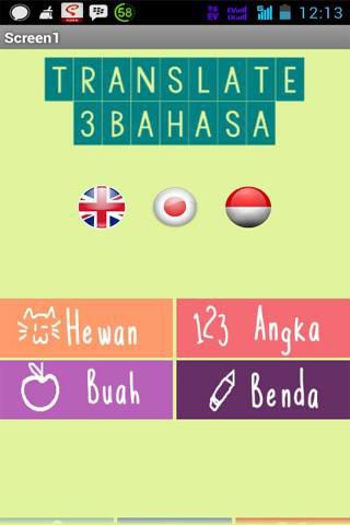 Translate 3 Bahasa