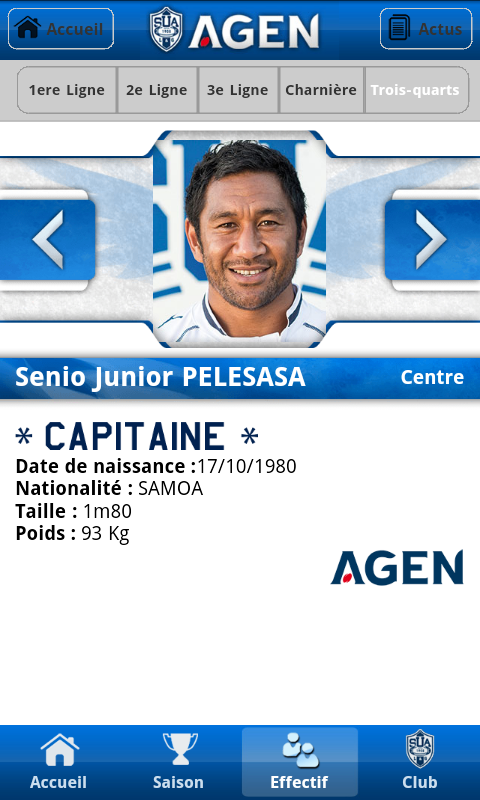 Agen Rugby - screenshot