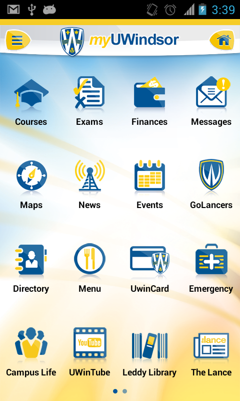 myUWindsor Mobile - screenshot