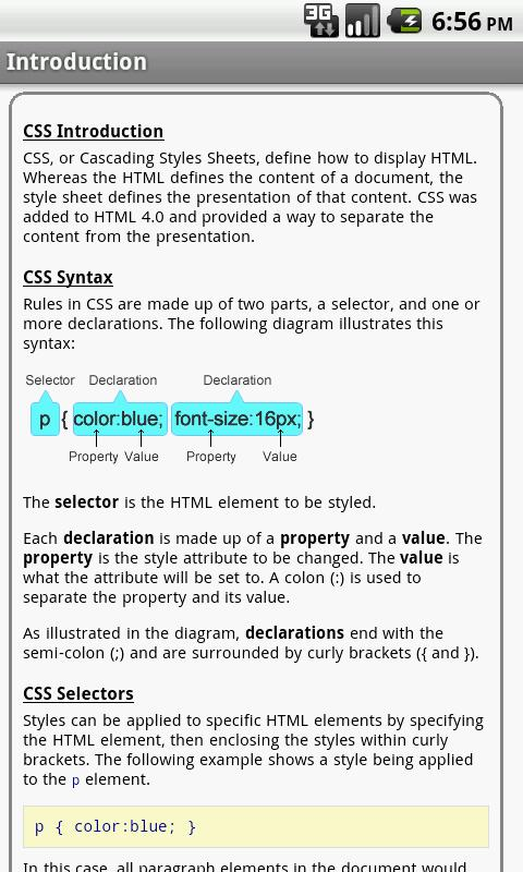 CSS Pro Quick Guide - screenshot