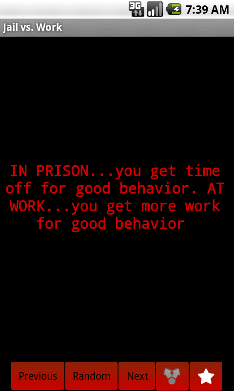 Jail vs Work - screenshot