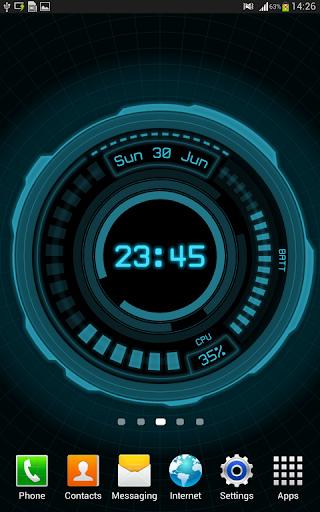 玩個人化App|AHL Sci-Fi System Clock (Pro)免費|APP試玩