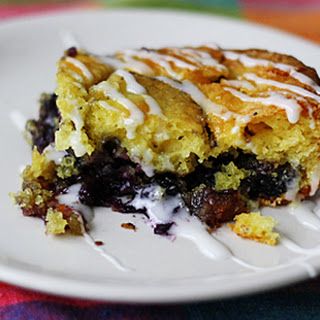 Glazed Lemon Blueberry Cake.