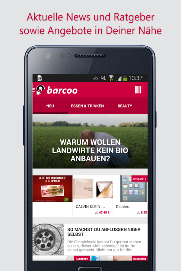 Barcode & QR Scanner barcoo - screenshot