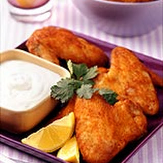 Buffalo Wings with Blue Cheese Dip.