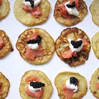 Salmon and Caviar Blini.