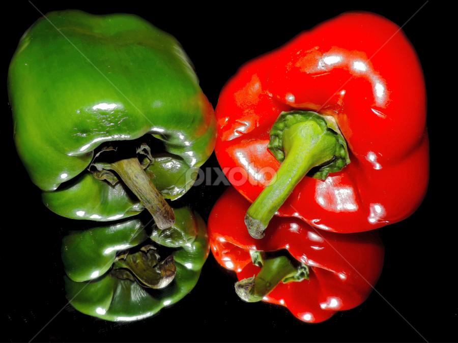 red and green by LADOCKi Elvira - Food & Drink Fruits & Vegetables ( vegetables,  )