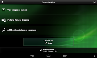 Screenshot of Canon CameraWindow