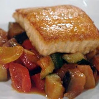 Pan Fried Salmon With Ratatouille.
