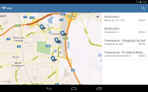 WiFi map - free Wi-Fi location - screenshot thumbnail