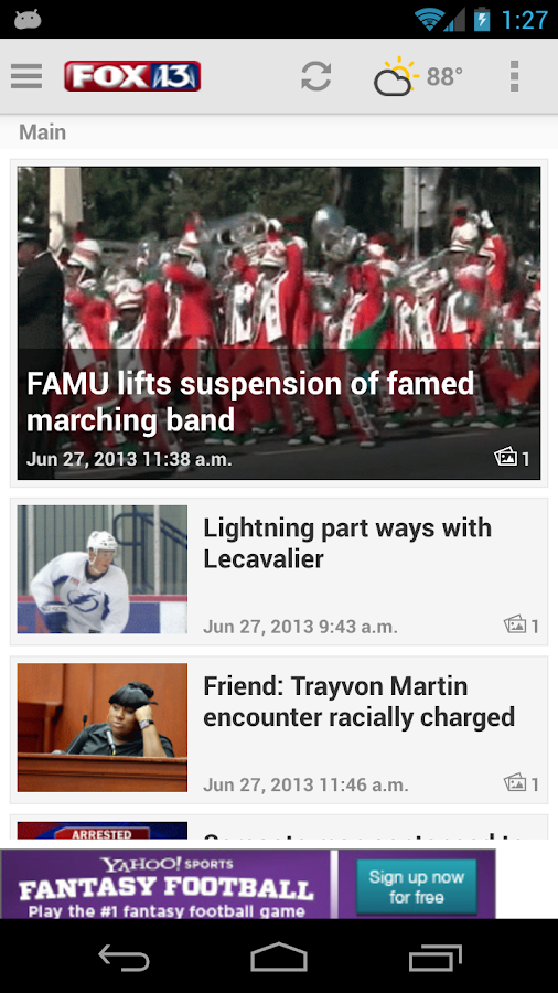 MyFoxTampaBay.com Mobile - screenshot