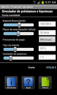 Abanfin financial calculator - screenshot thumbnail