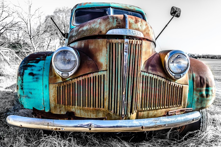 Patina Studebaker by Adam C Johnson - Transportation Automobiles (  )