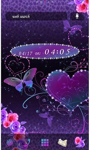 Butterfly Theme Violet Hearts 2.0.1 Windows u7528 1