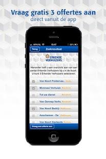 Erkende Verhuizers App- screenshot thumbnail