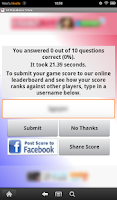 Screenshot of US Presidents Trivia
