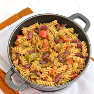 One pot Vegetable Pasta with beans | Under 30 minutes meals