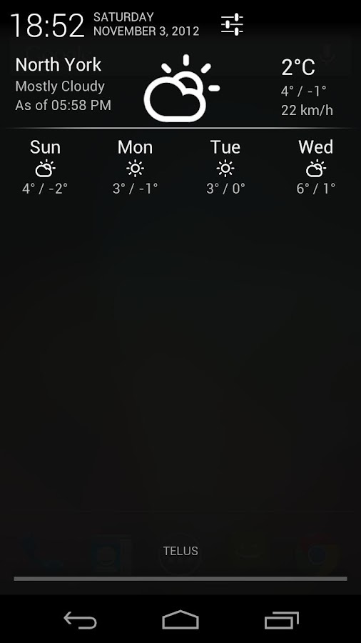 Notification Weather - screenshot
