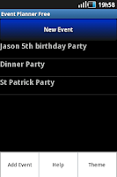 Screenshot of Event Planner Free